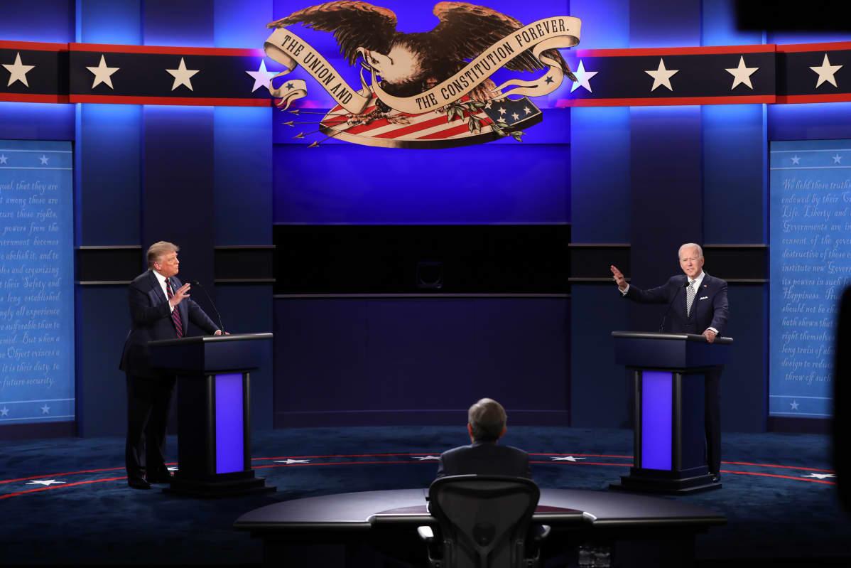 Donald Trumpin ja Joe Bidenin ensimmäinen vaaliväittely