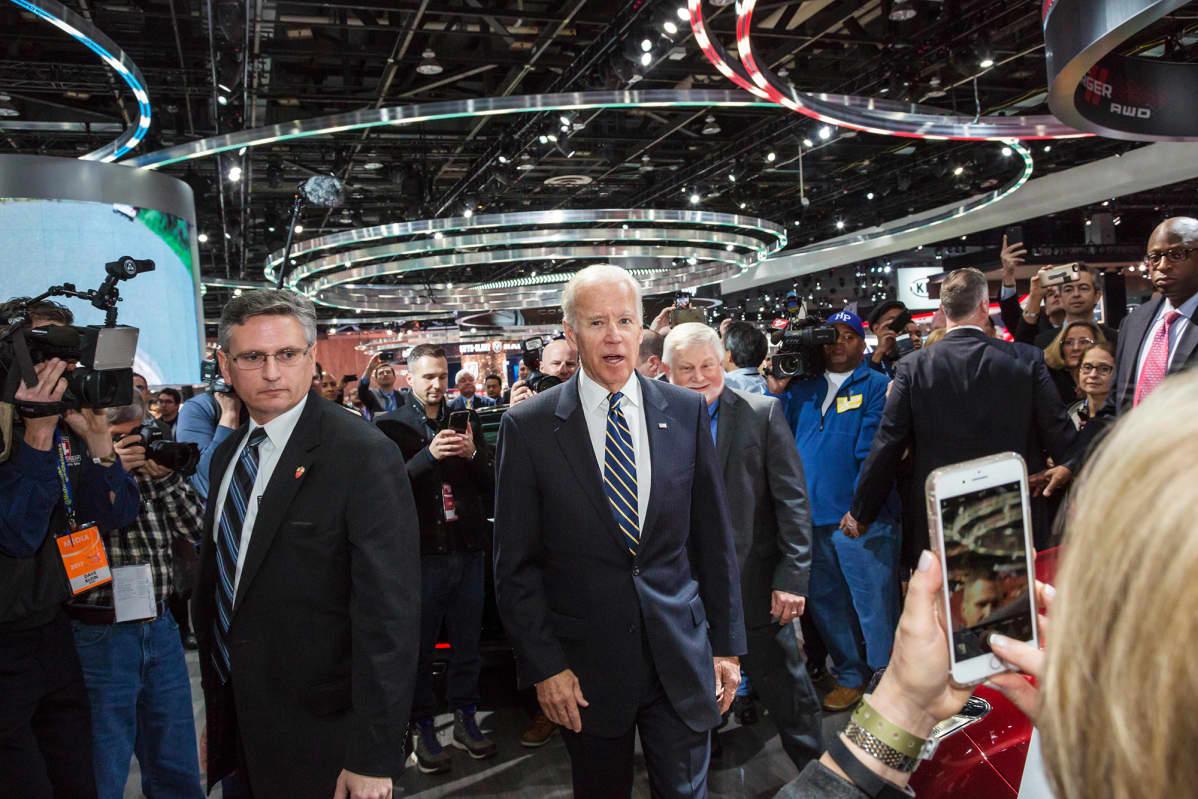 Kuvassa on Joe Biden tammikuussa 2017.