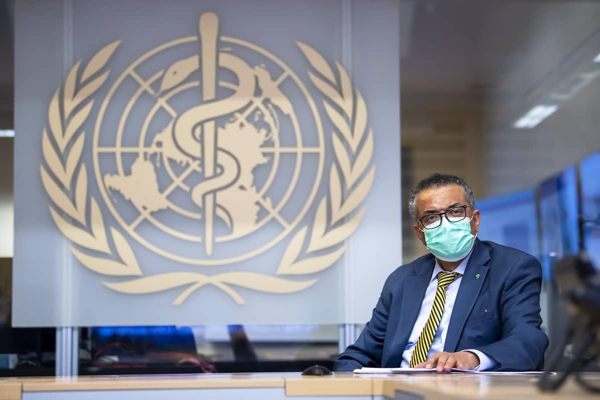 Maailman terveysjärjestön pääjohtaja Tedros Adhanom Ghebreyesus
