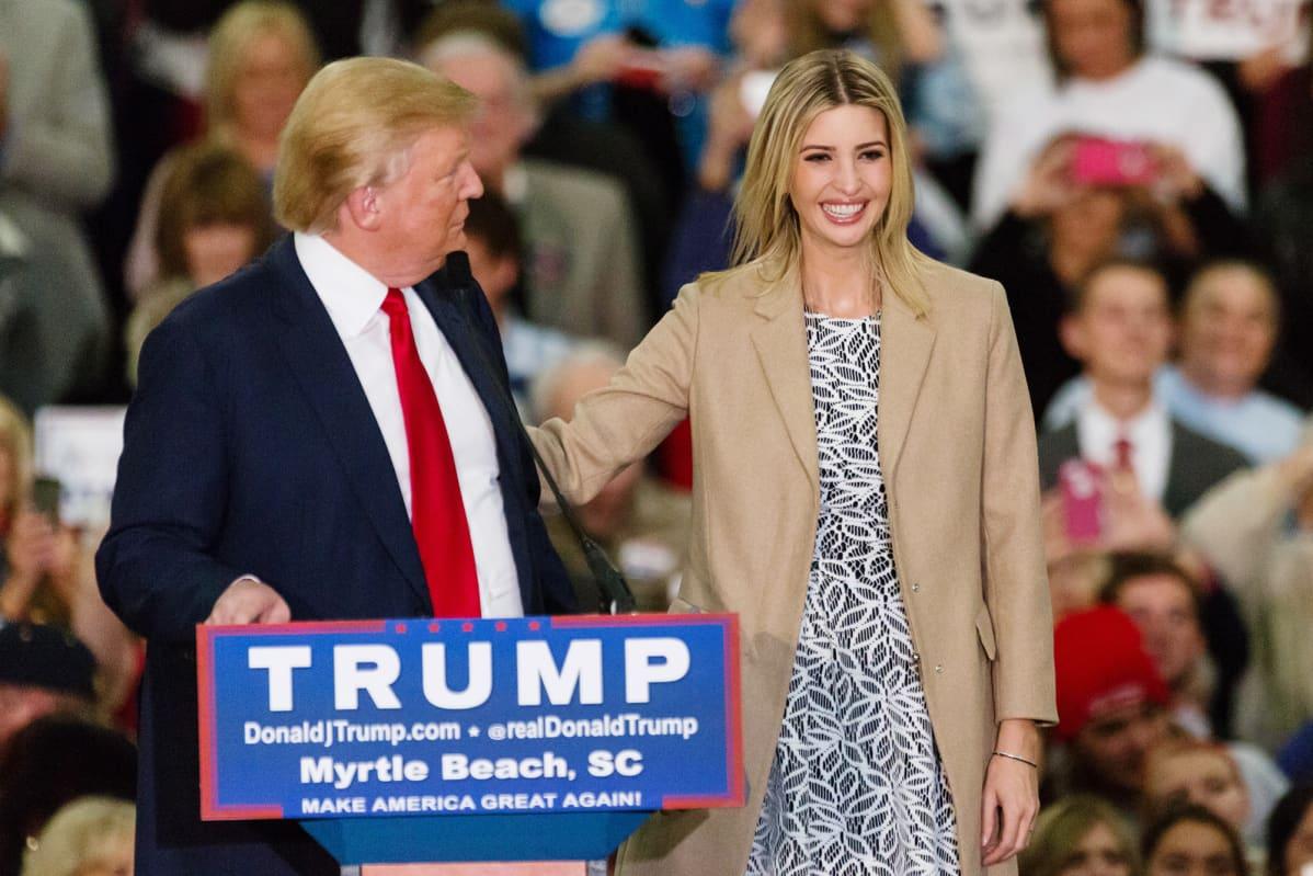 USA:n Presidentti Donald Trump ja tytär Ivanka Trump.