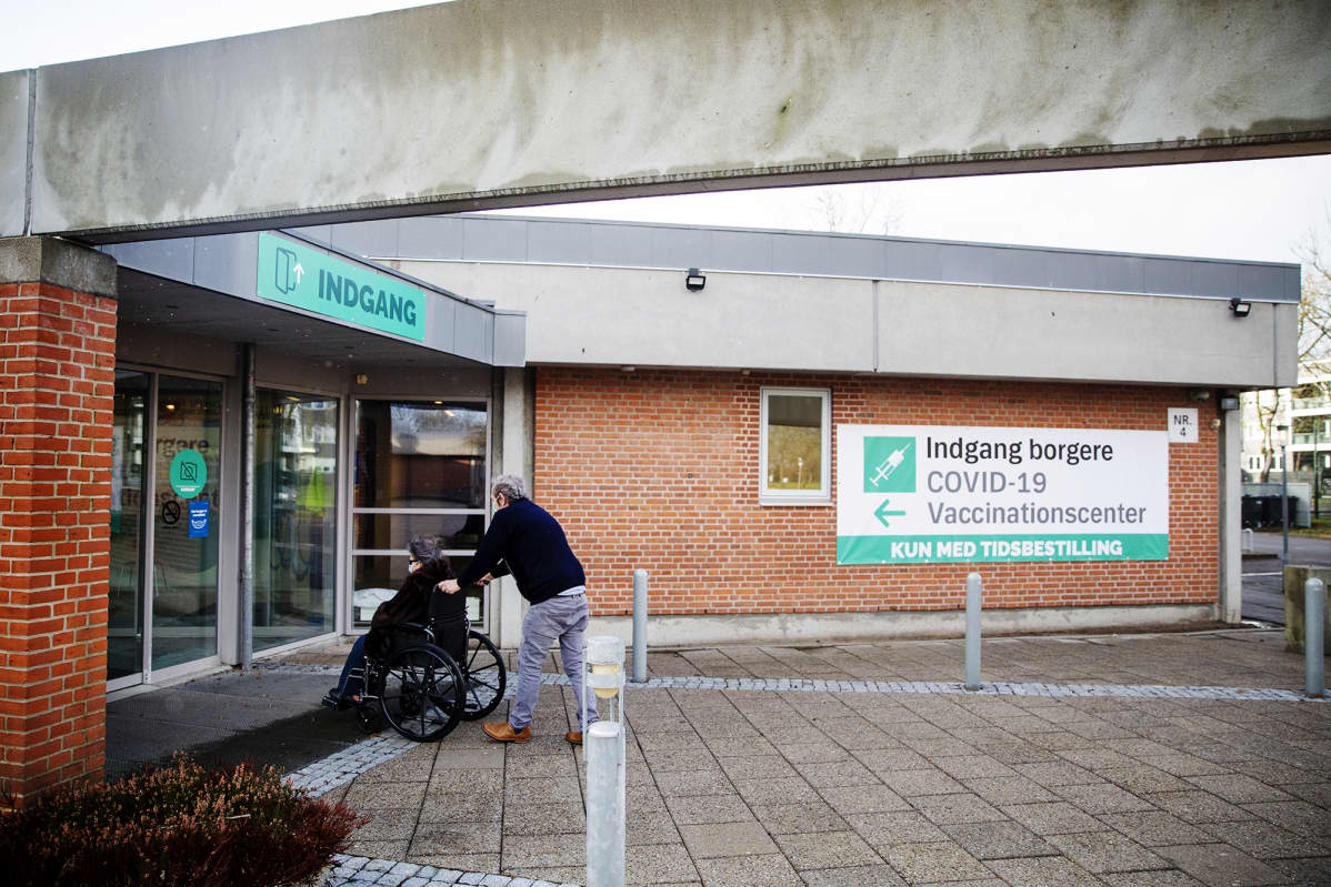 Tanskalainen rokotusasema.
