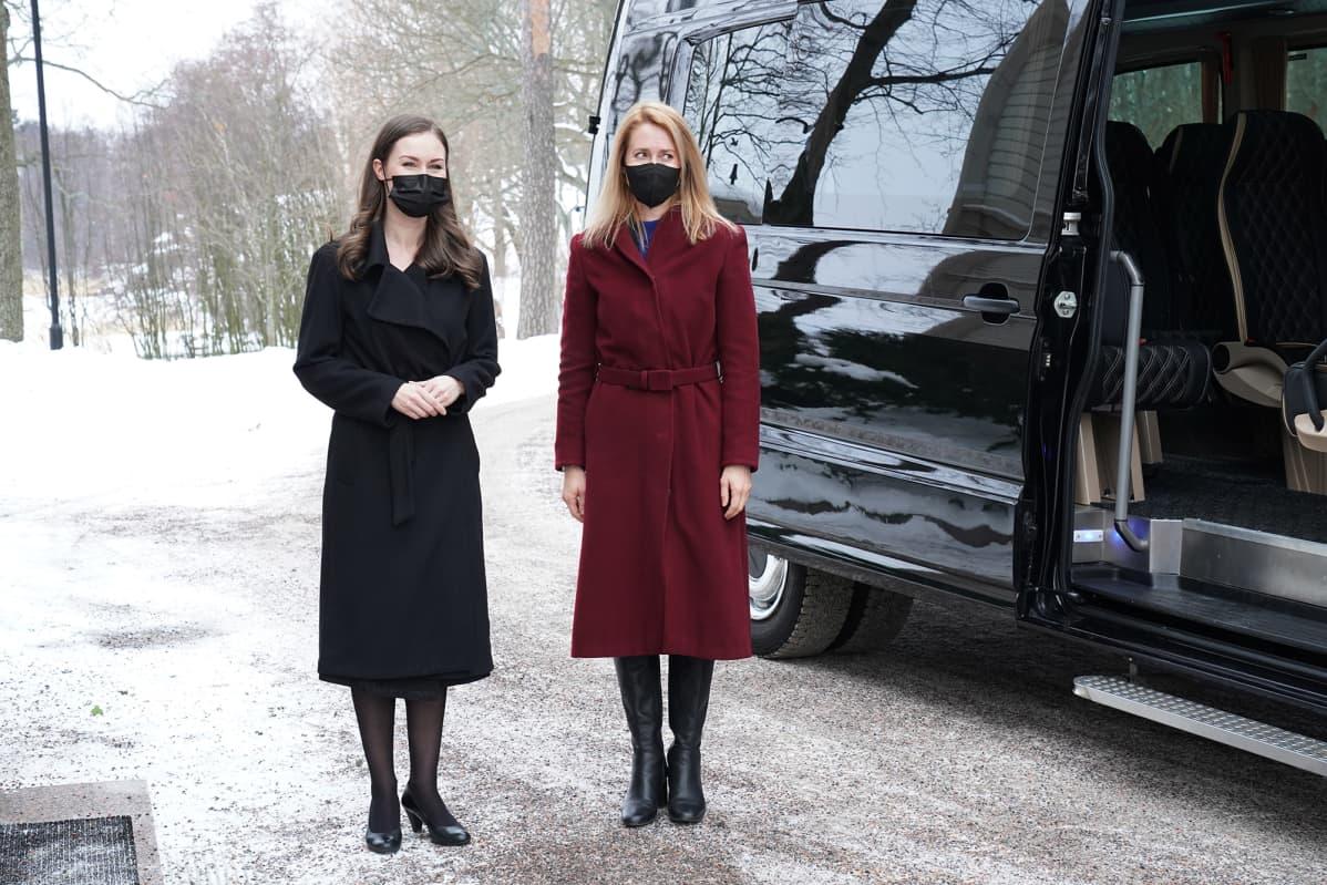 Suomen pääministeri Sanna Marin ja Viron pääministeri Kaja Kallas.