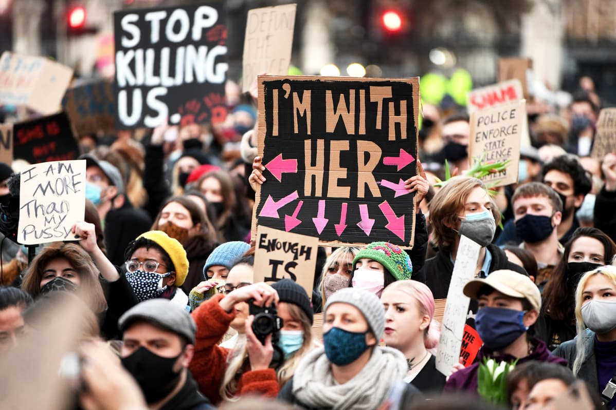 Mielenosoitus Lontoossa.