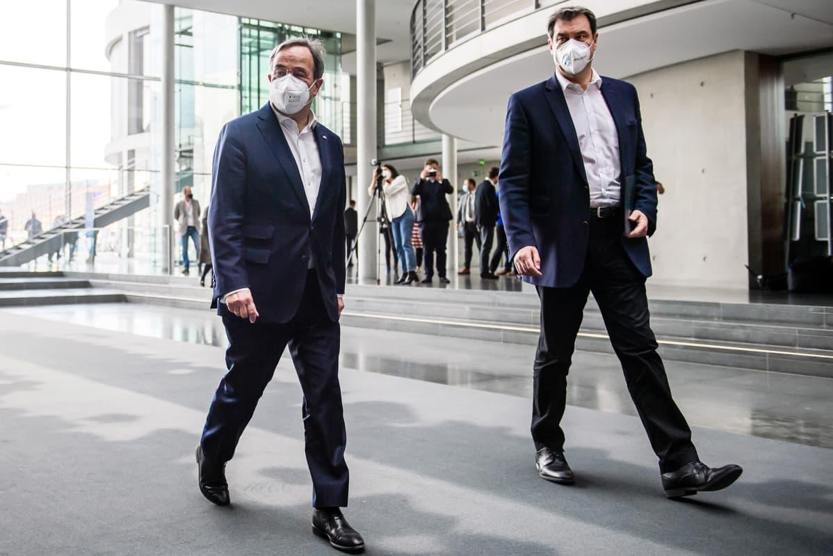 Armin Laschet ja Markus Söder