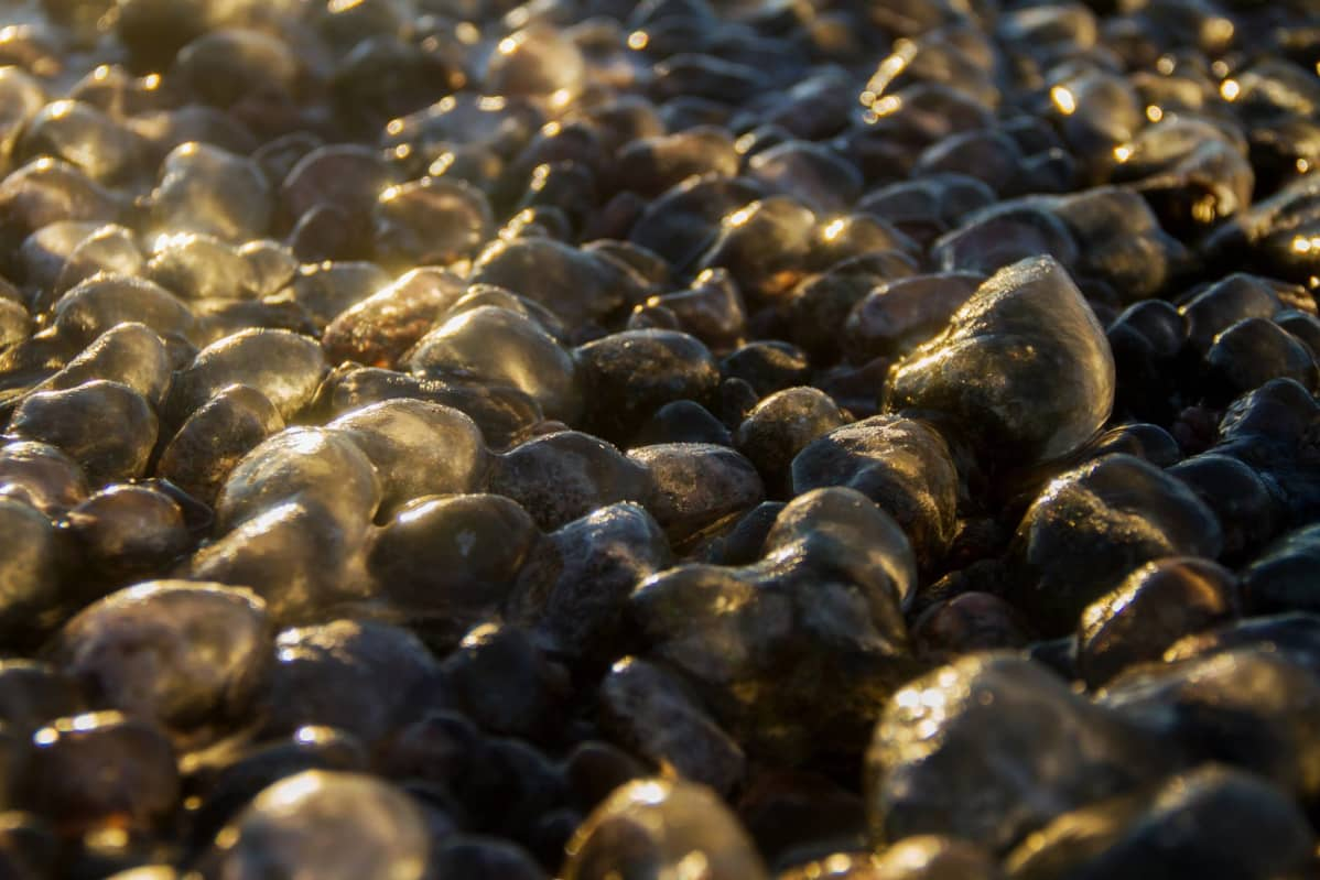 Jäisiä kiviä.