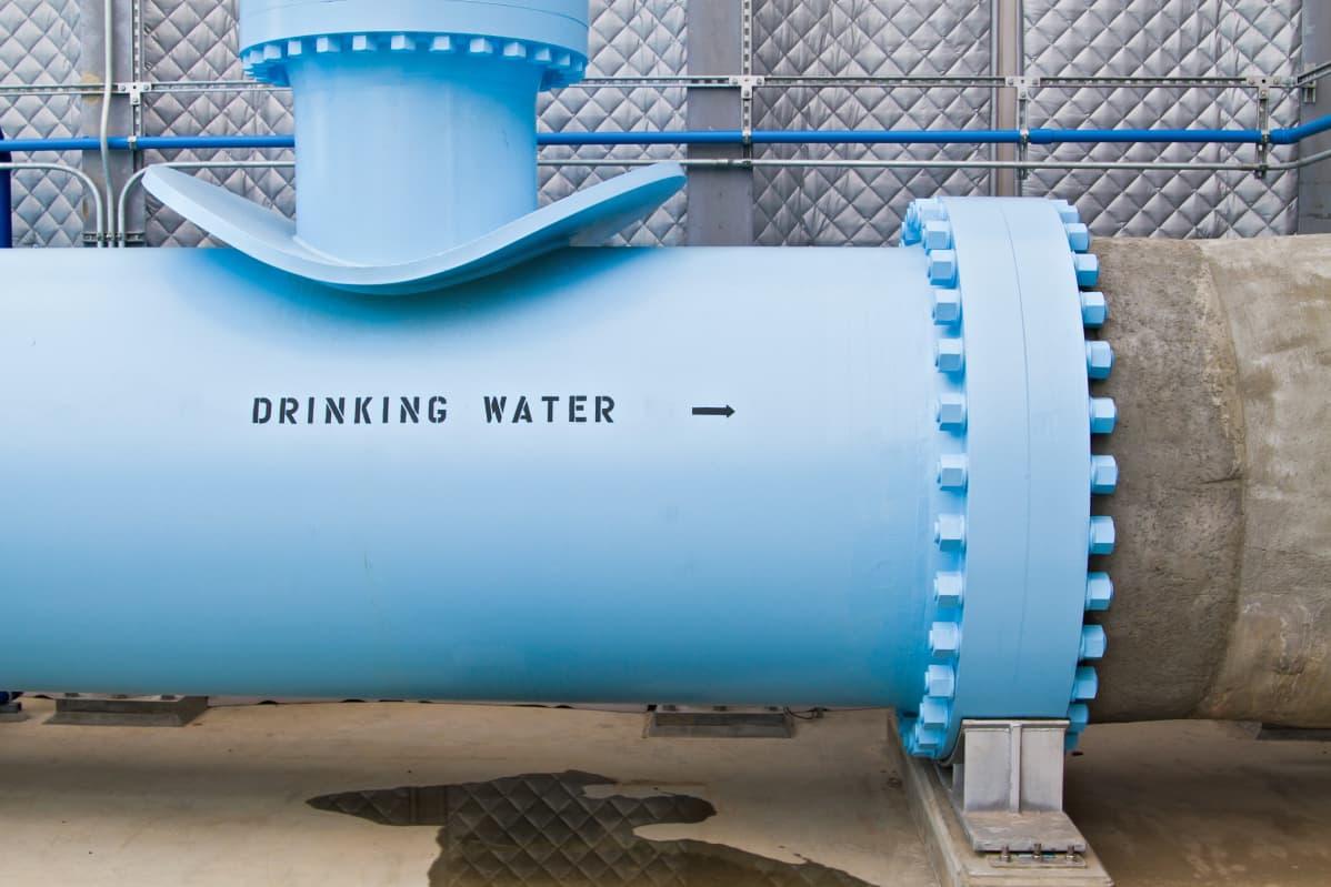 Tästä puhdistettu juomavesi lähtee suolanpoistolaitoksesta San Diegon piirikunnan vesisysteemiin.
