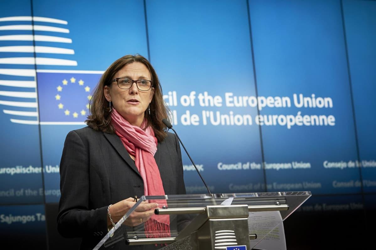 Kauppakomissaari Cecilia Malmström.