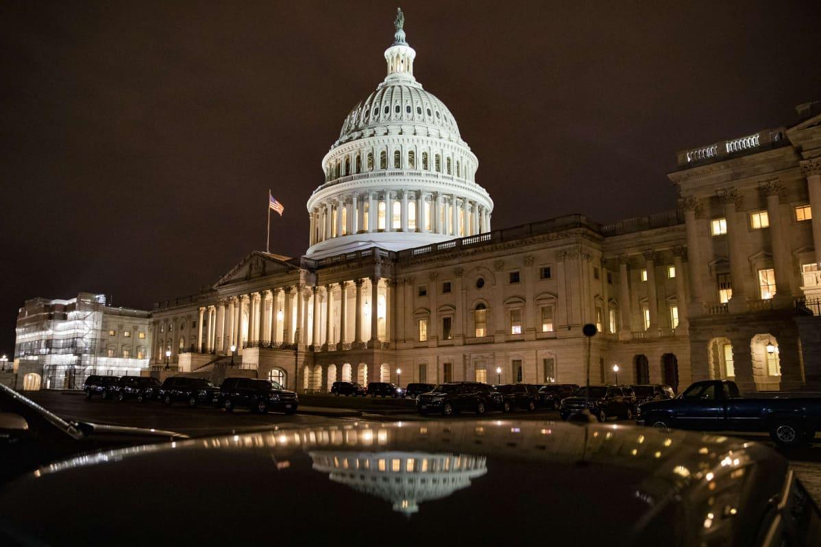 Yhdysvaltain kongressirakennus 24. tammikuuta 2020.