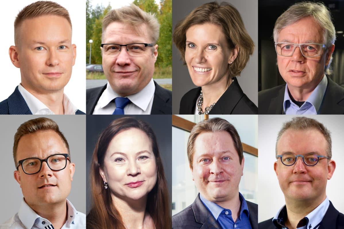 Harri Ojala, Markku Karjalainen, Miimu Airaksinen, Pekka Eloranta; Heikki Rusama, Sari Mäenpää, Roope Raisamo, Tomi-Pekka Niukkanen
