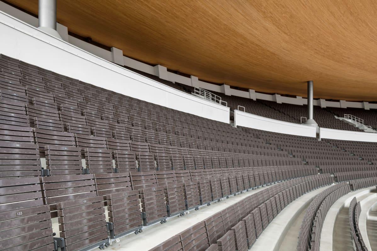 Olympiastadionin penkit.