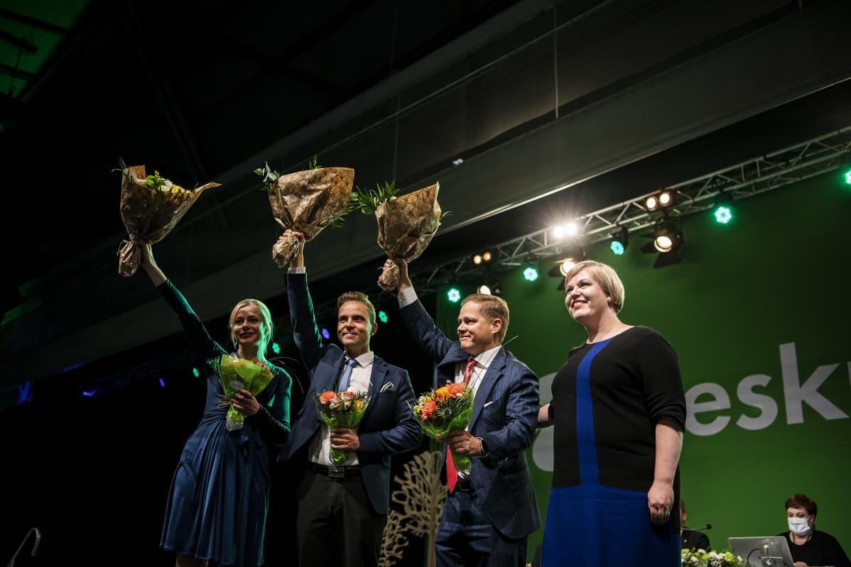 Petri Honkonen, Markus Lohi ja Riikka Pakarinen