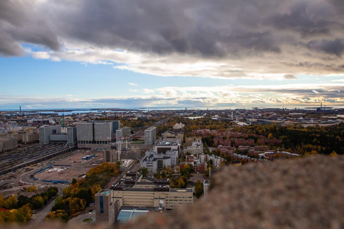 Näkymä Ylen linkkitornista 13.10.2020.