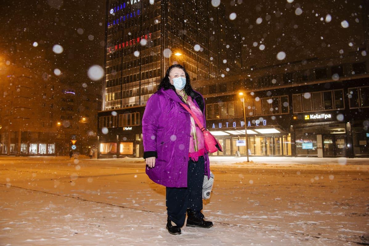Jaana Kaipiainen ei ole lumen ystävä.