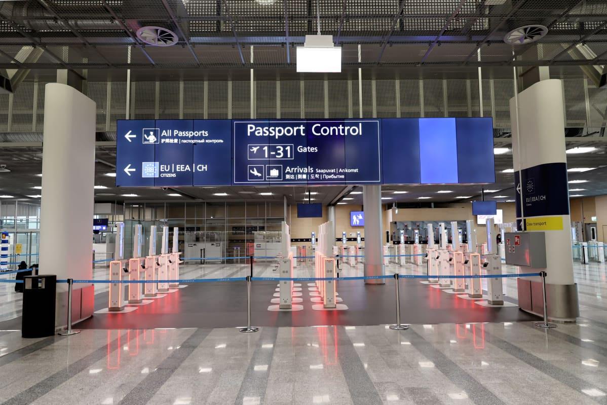 ETIAS -passintarkastus Helsinki-Vantaan lentoasemalla.