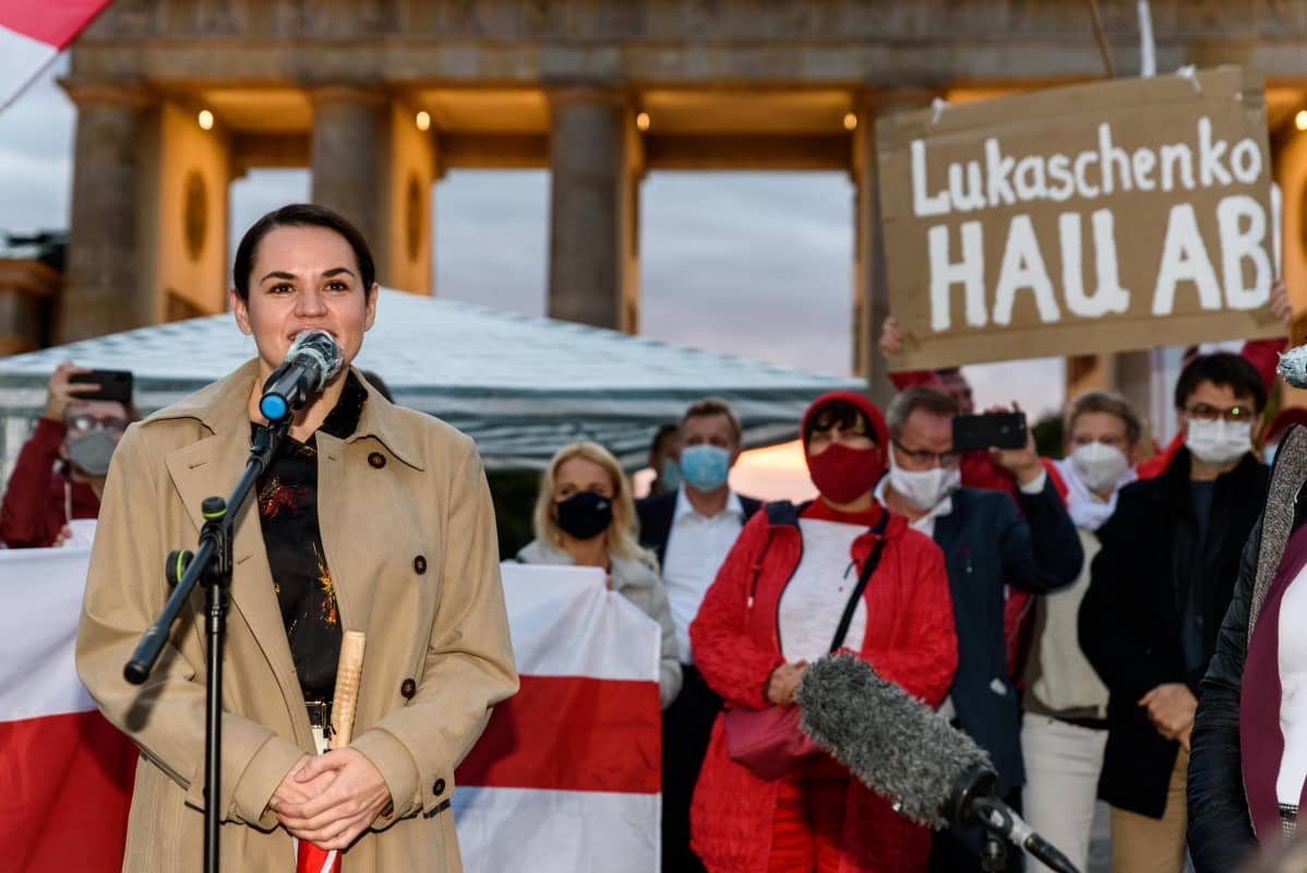 Svjatlana Tsihanouskaja esiintyy berliinissä
