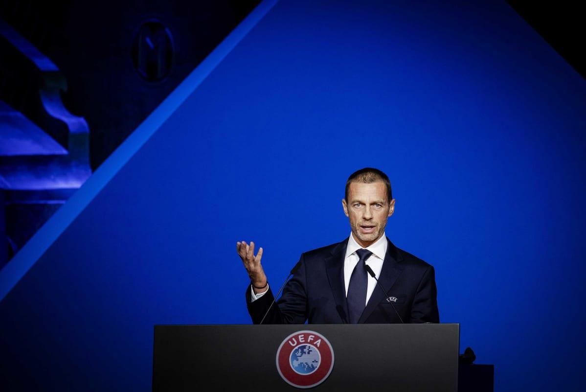 Euroopan jalkapalloliiton Uefan puheenjohtaja Aleksander Ceferin.