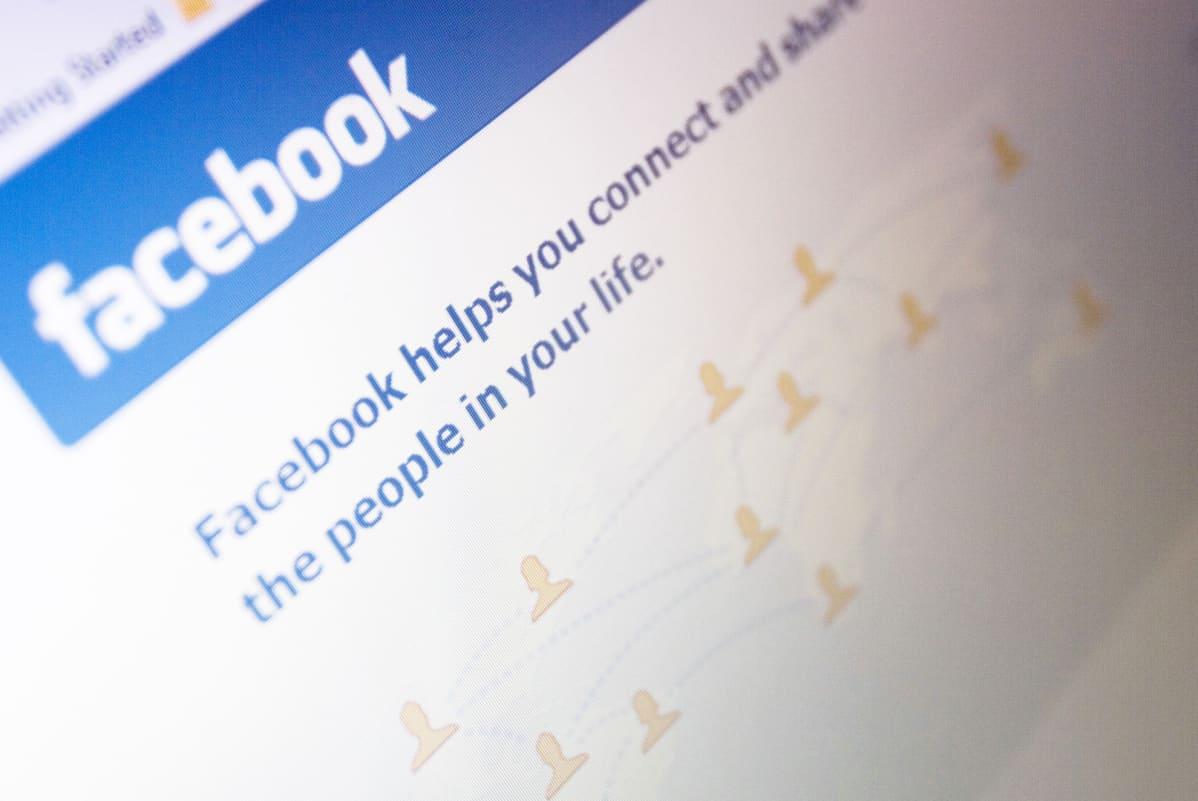 Facebookin sisäänkirjautumissivu.