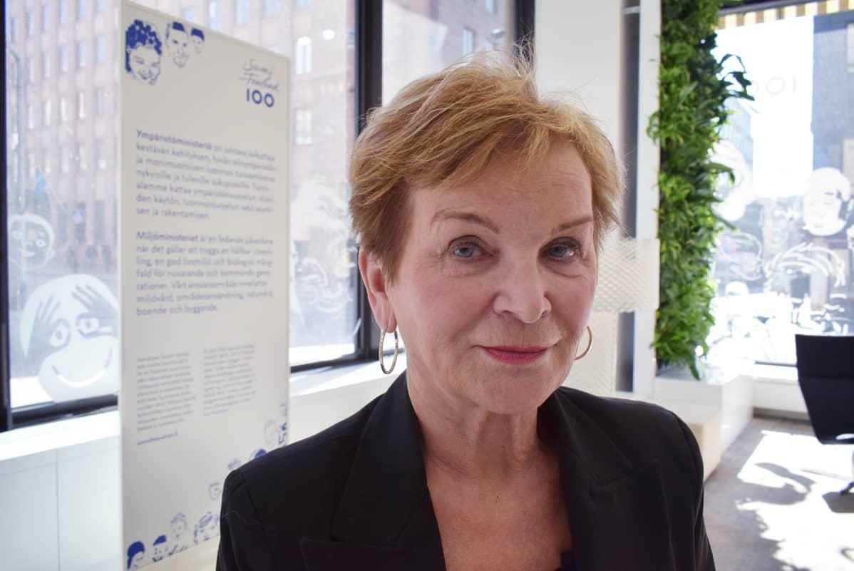 Ympäristöministeriön kansliapäällikkö Hannele Pokka.