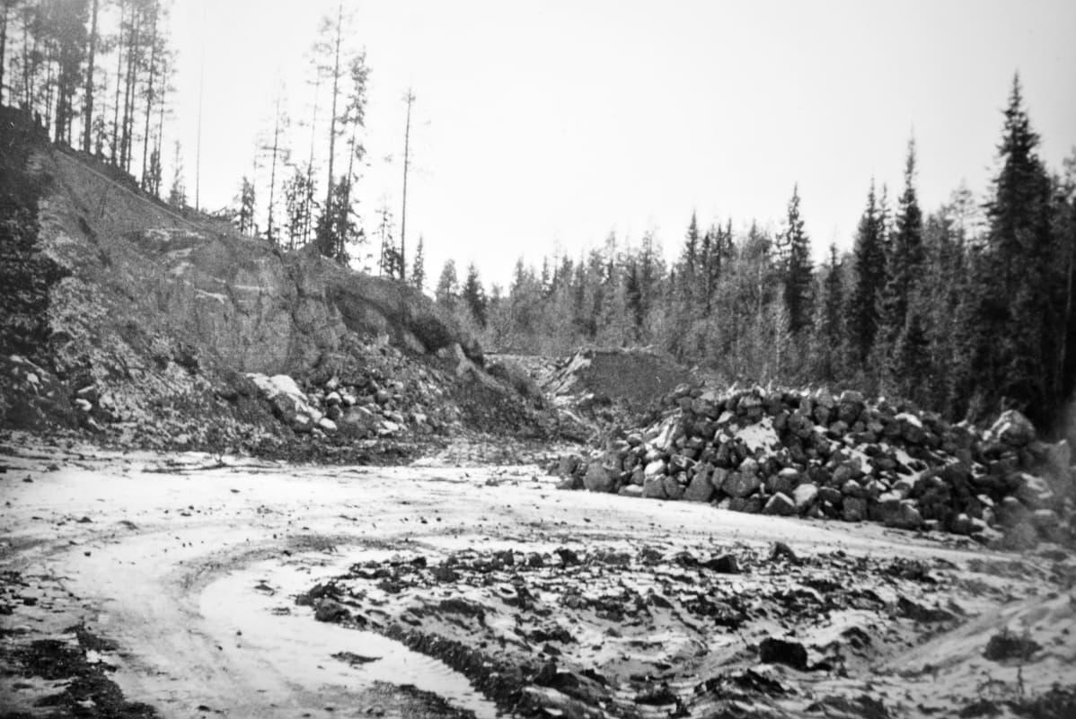 Nuottijärven louhos 1965.