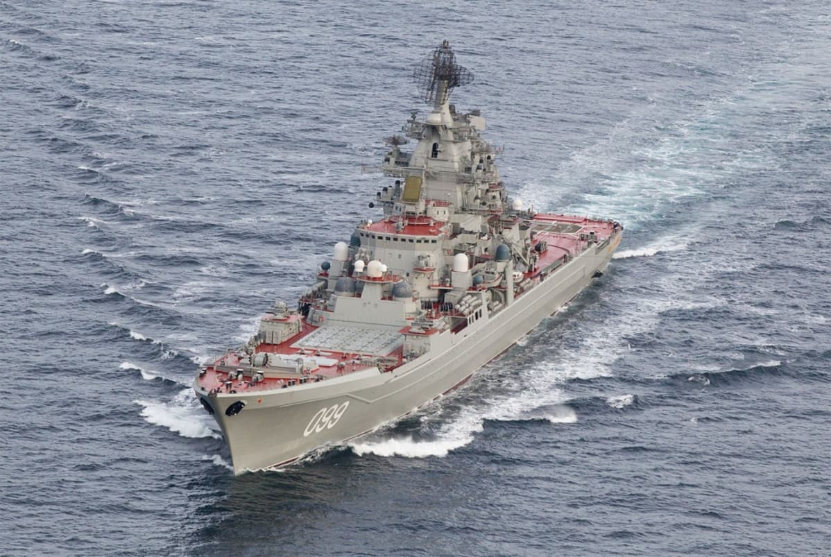 venäläinen sotalaiva Pjotr Veliki