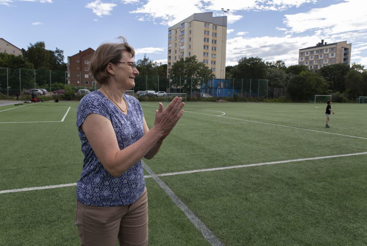 Tukholma, naisten Ruotsi-Hollanti jalkapallo-ottelu