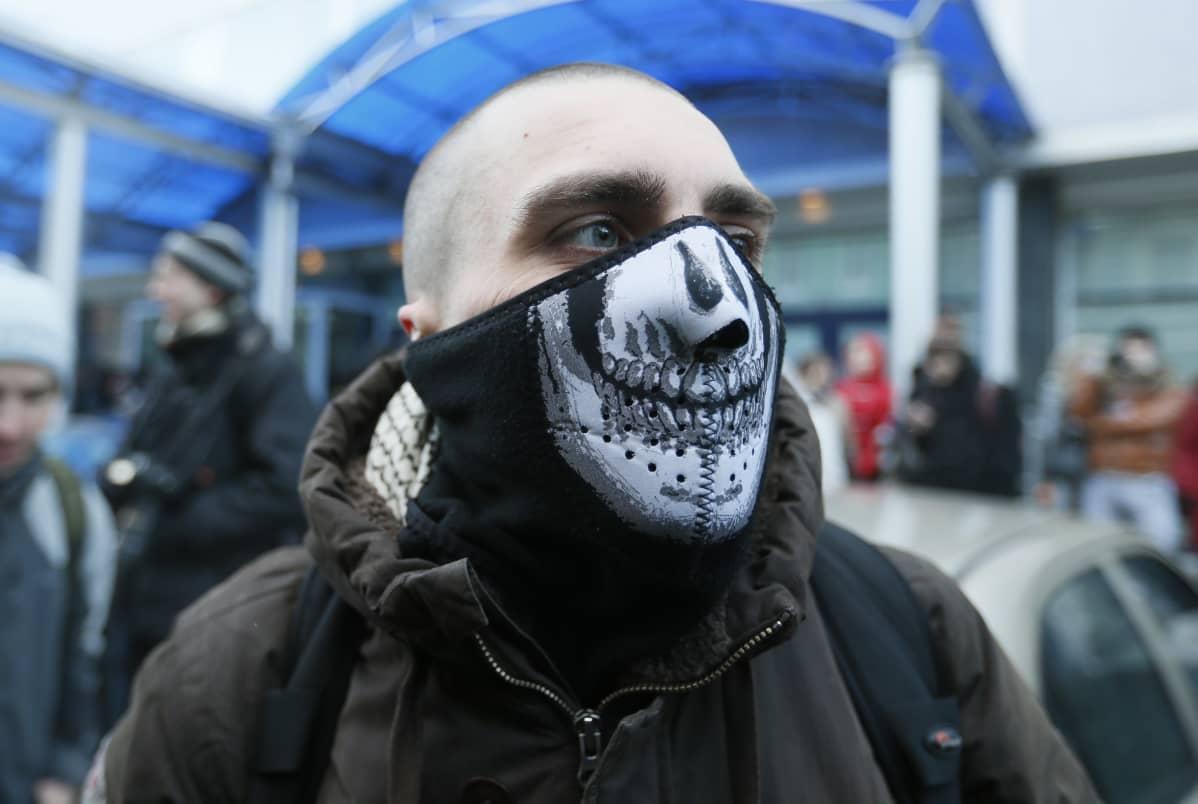 Homovastainen mielensoittaja Moskovassa 2013.