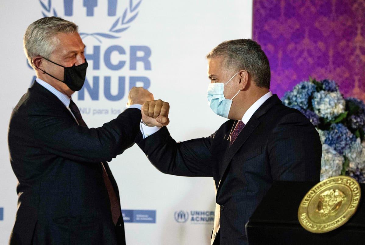 Filippo Grandi ja  Ivan Duque