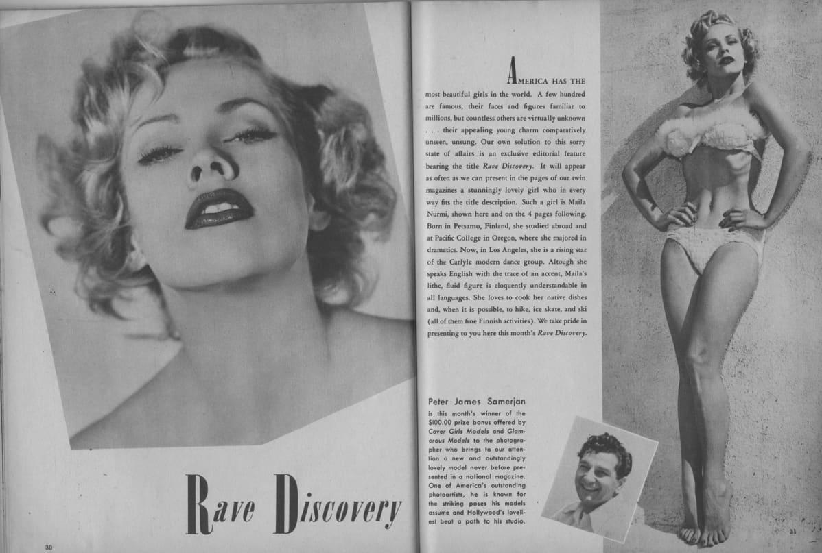 Vampira, Maila Nurmi, pin up, Models Magazine