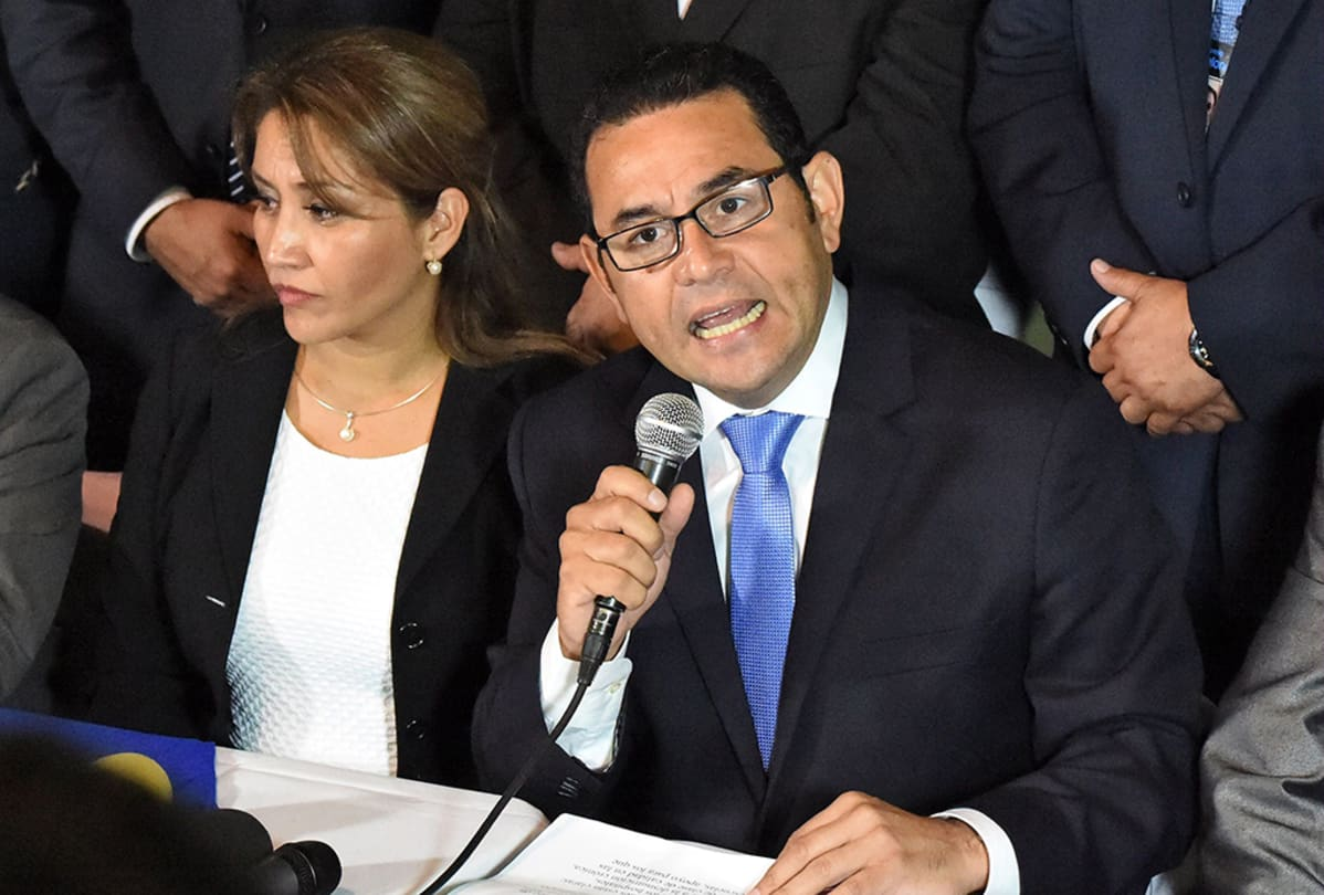 Hilda Marroquin ja Jimmy Morales.