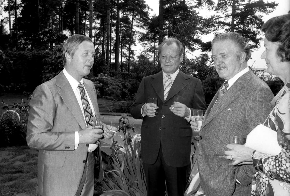 Willy Brandt Suomessa vuonna 1977.