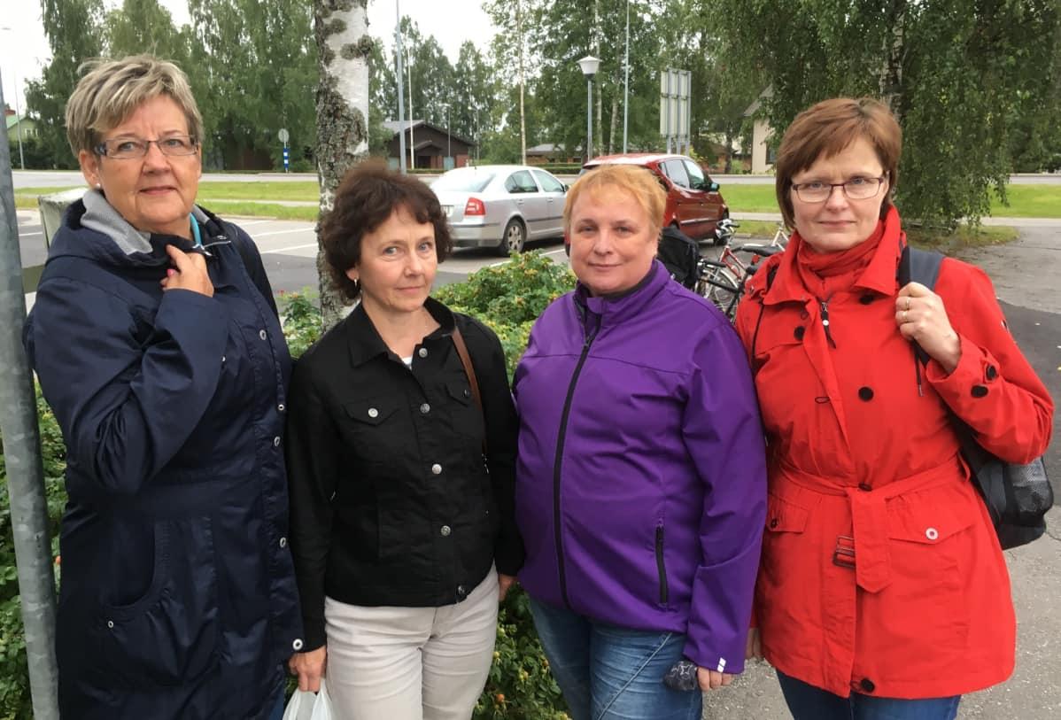 Sirpa Vuorinen, Kaija Parkkinen, Marita Hietala, Mirja Lantiainen