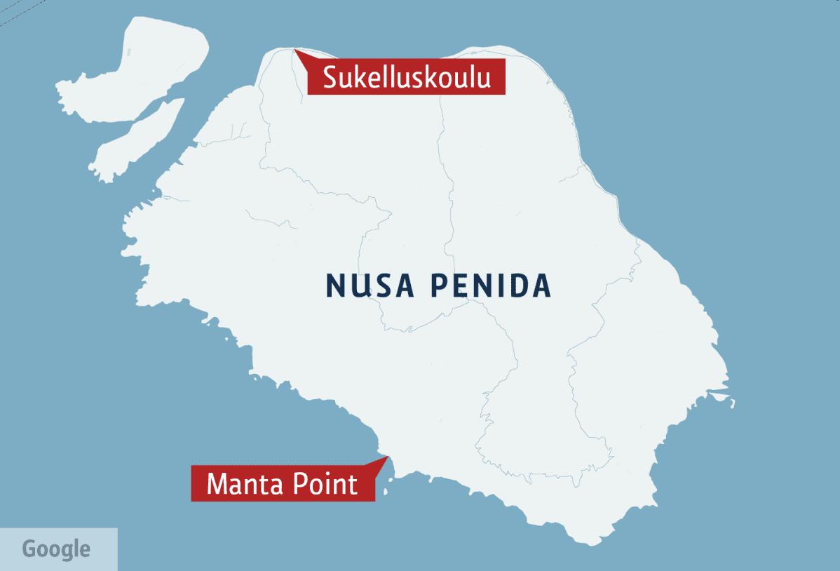 Nusa Penida kartta