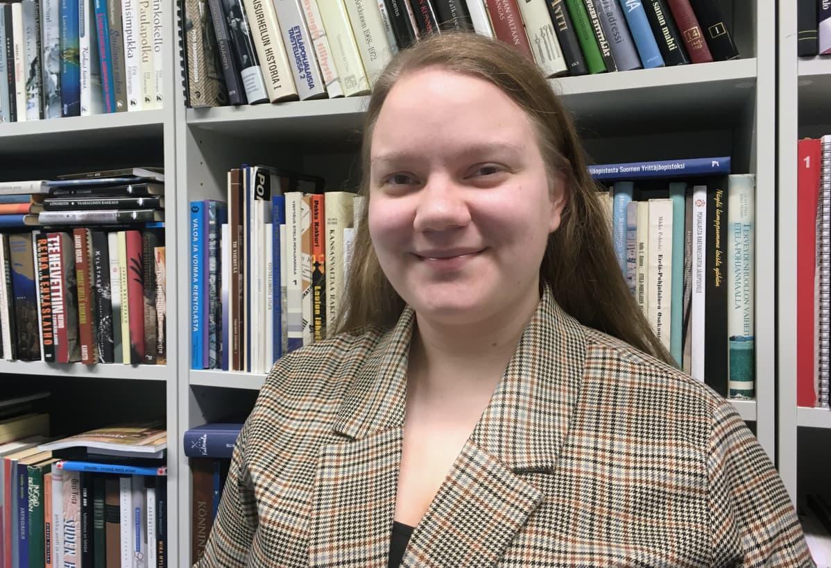 Roosa Pajunen on Suomen Lukiolaisten liiton uusi puheenjohtaja.