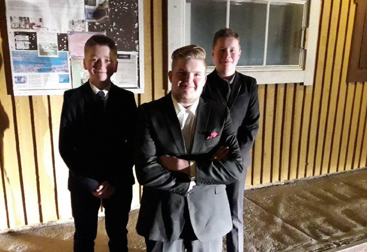 Timo Purho, Jussi Virtanen ja Eino Leinonen