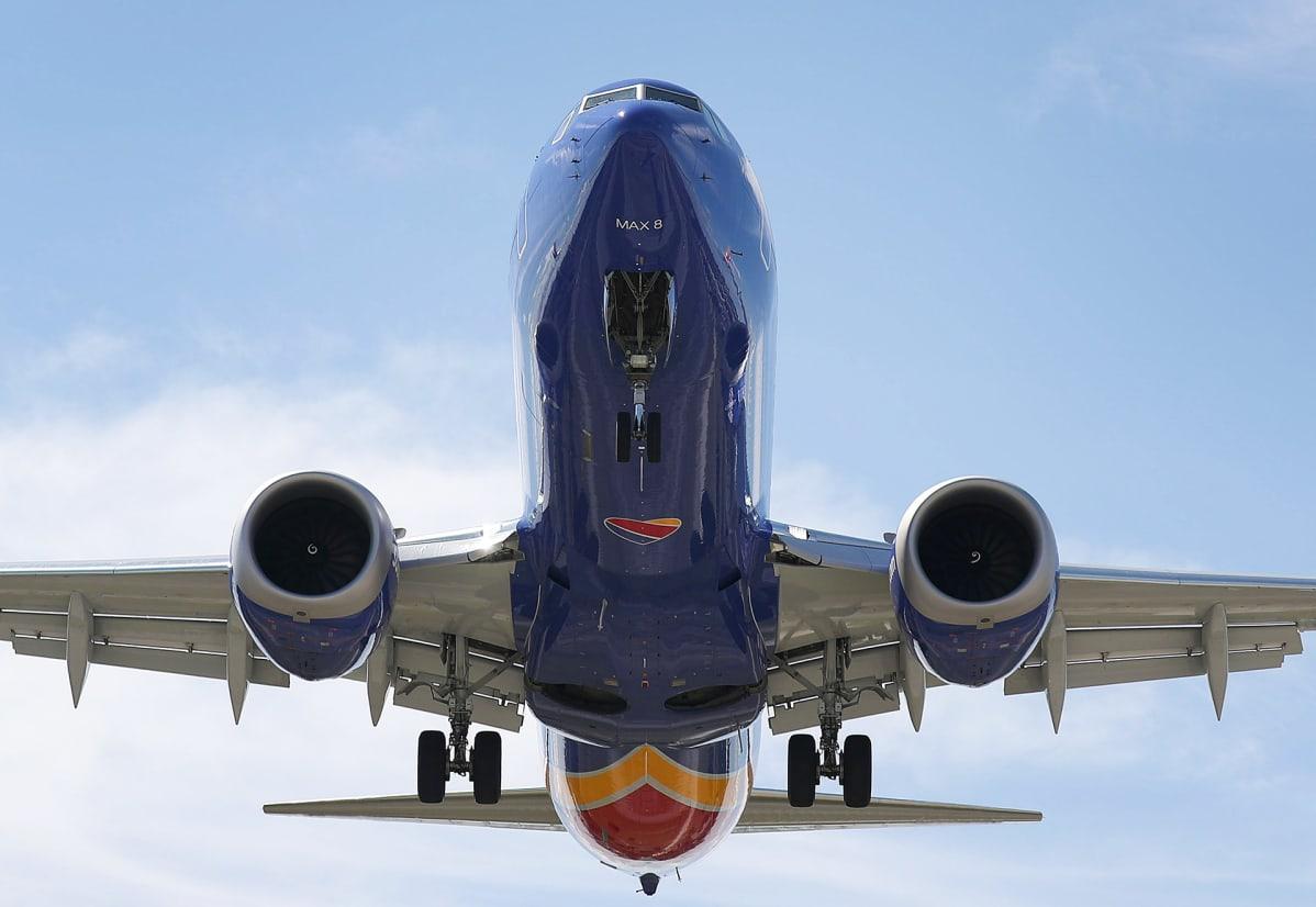 Southwest-yhtiön Boeing 737 Max 8.