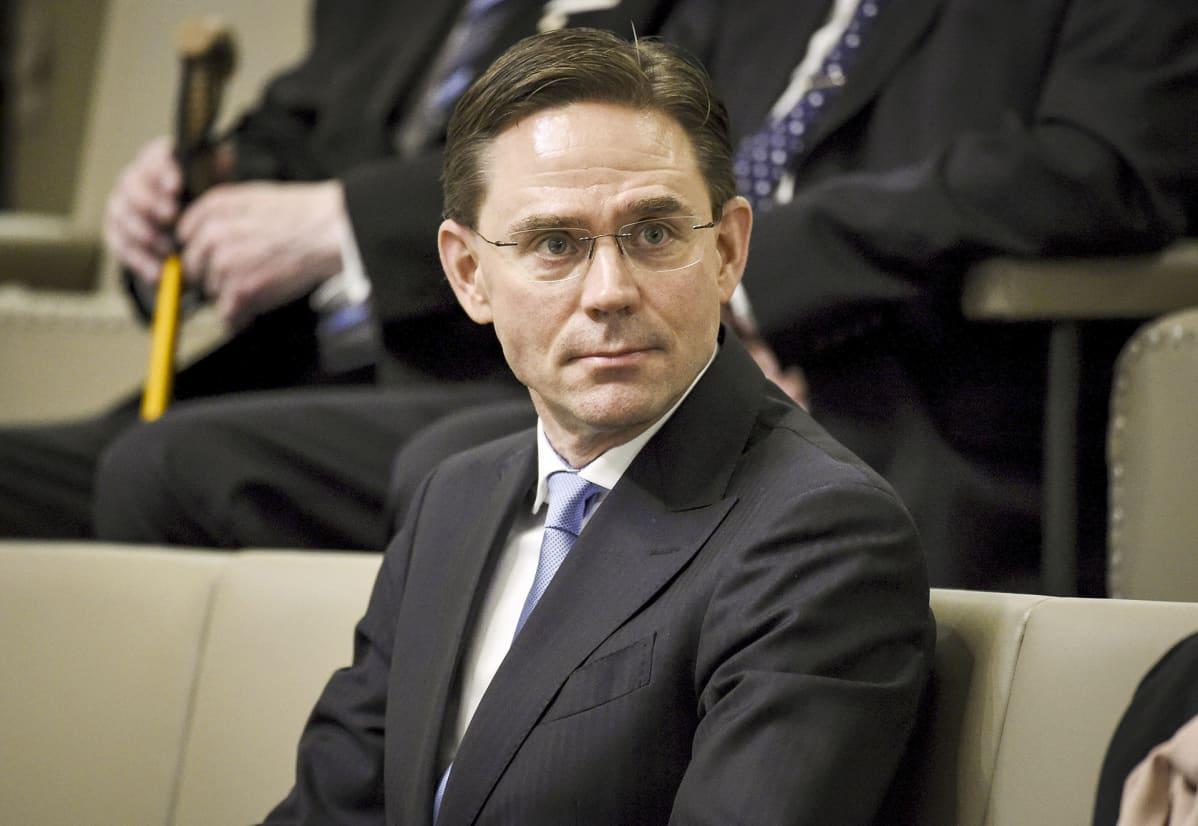 Komissaari Jyrki Katainen valtiopäivien avajaisissa eduskunnan lehtereillä Helsingissä 5. helmikuuta 2020.