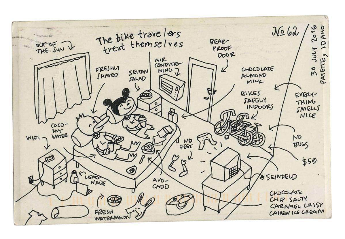 Sarjakuva Kaisa ja Christoffer Lekan sarjakuva-albumista