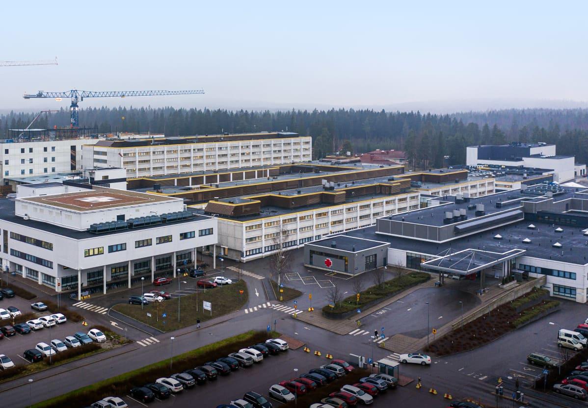 Ilmakuva Päijät-Hämeen keskussairaalasta
