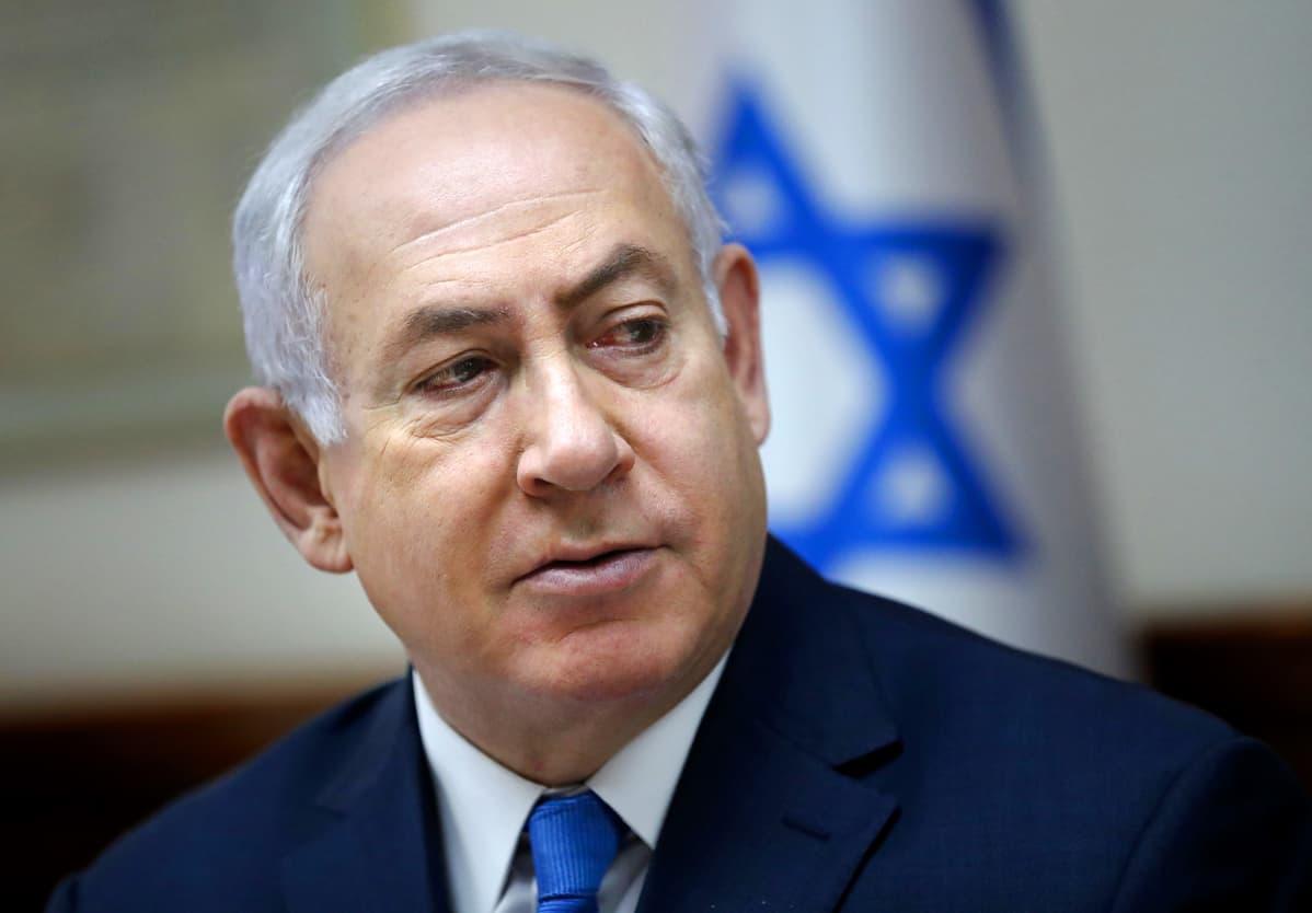 Benjamin Netanjahu, lähikuva.