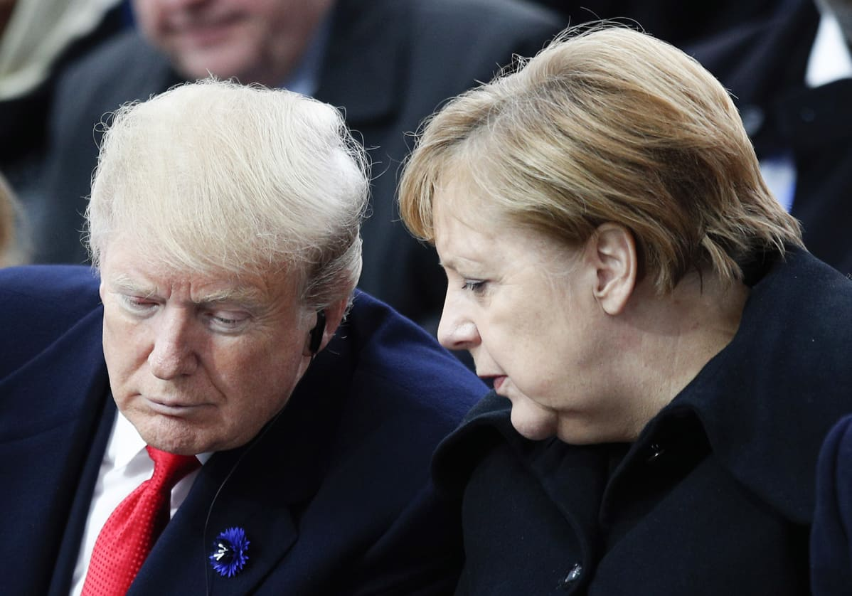 Donald Trump ja Angela Merkel