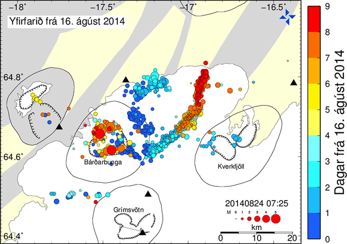 Kartta maanjäristyksistä.