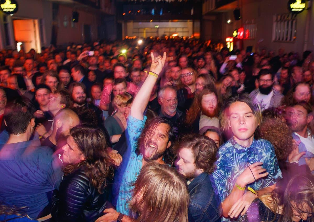 Islantilaisia Airwave-festivaalilla Reykjavikissa.