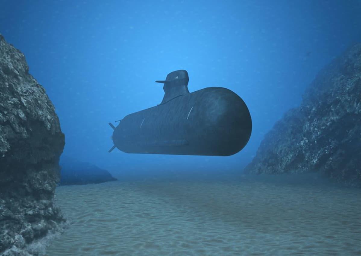Mallinnos A26-sukellusveneestä.
