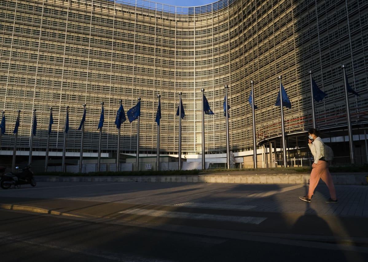 EU:n komission päämaja Berlaymont Brysselissä.