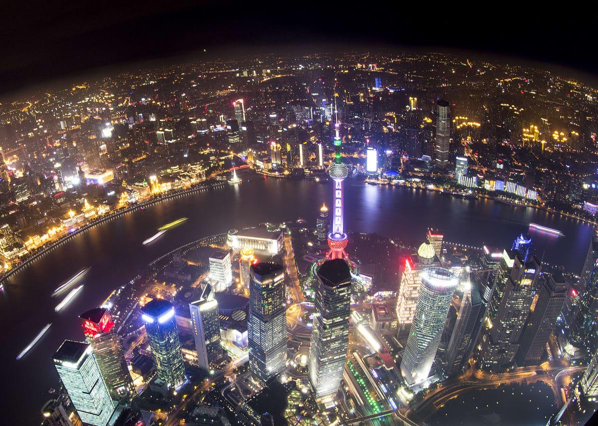 Näkymä Shanghaihin.
