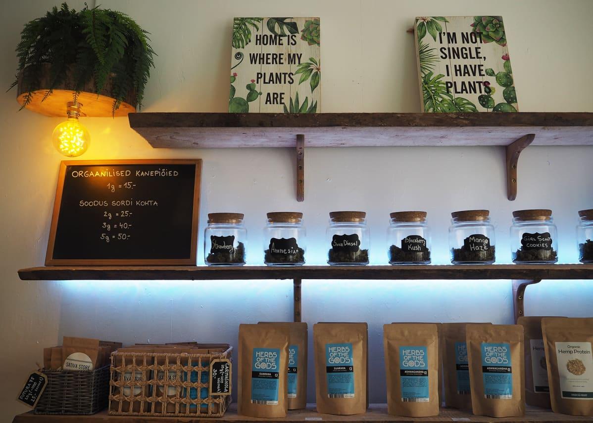 Kevytkannabista saa myydä Virossa ravintolisänä mutta ei lääkkeenä.