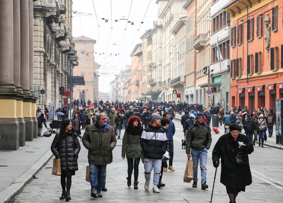 Bolognan katukuvaa.