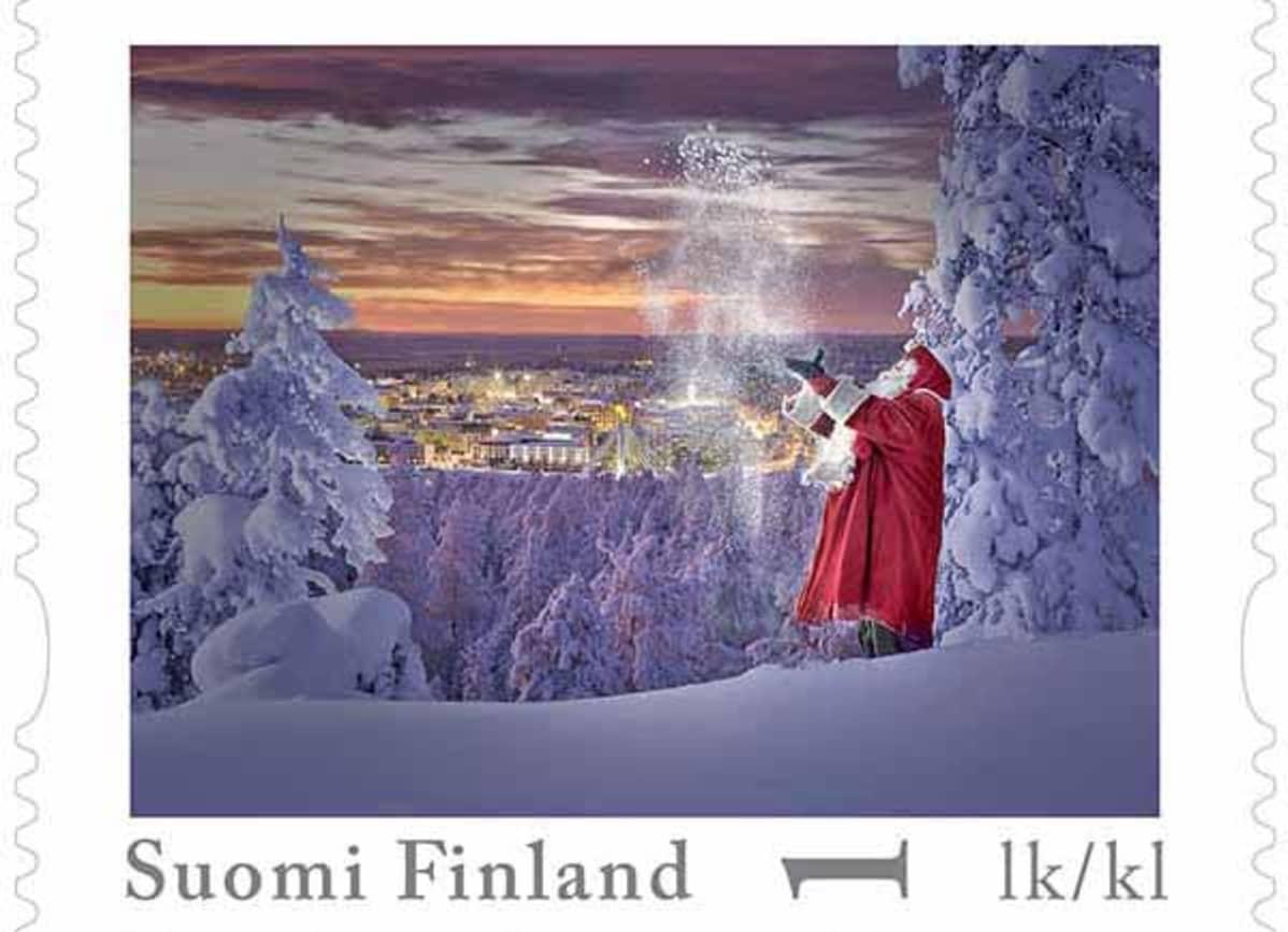 Joulupukin omakuvapostimerkki
