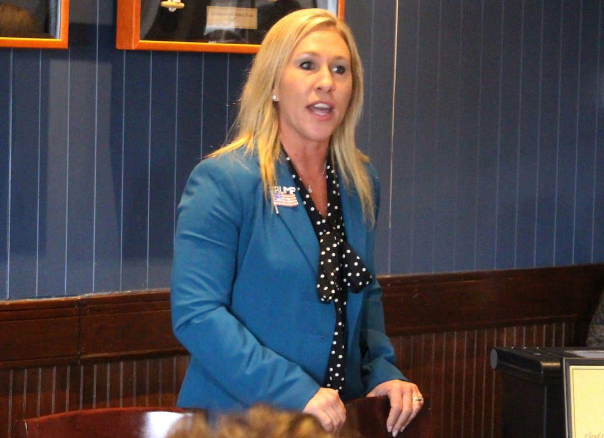 Republikaaniehdokas  Marjorie Taylor Greene 3. maaliskuuta 2020.
