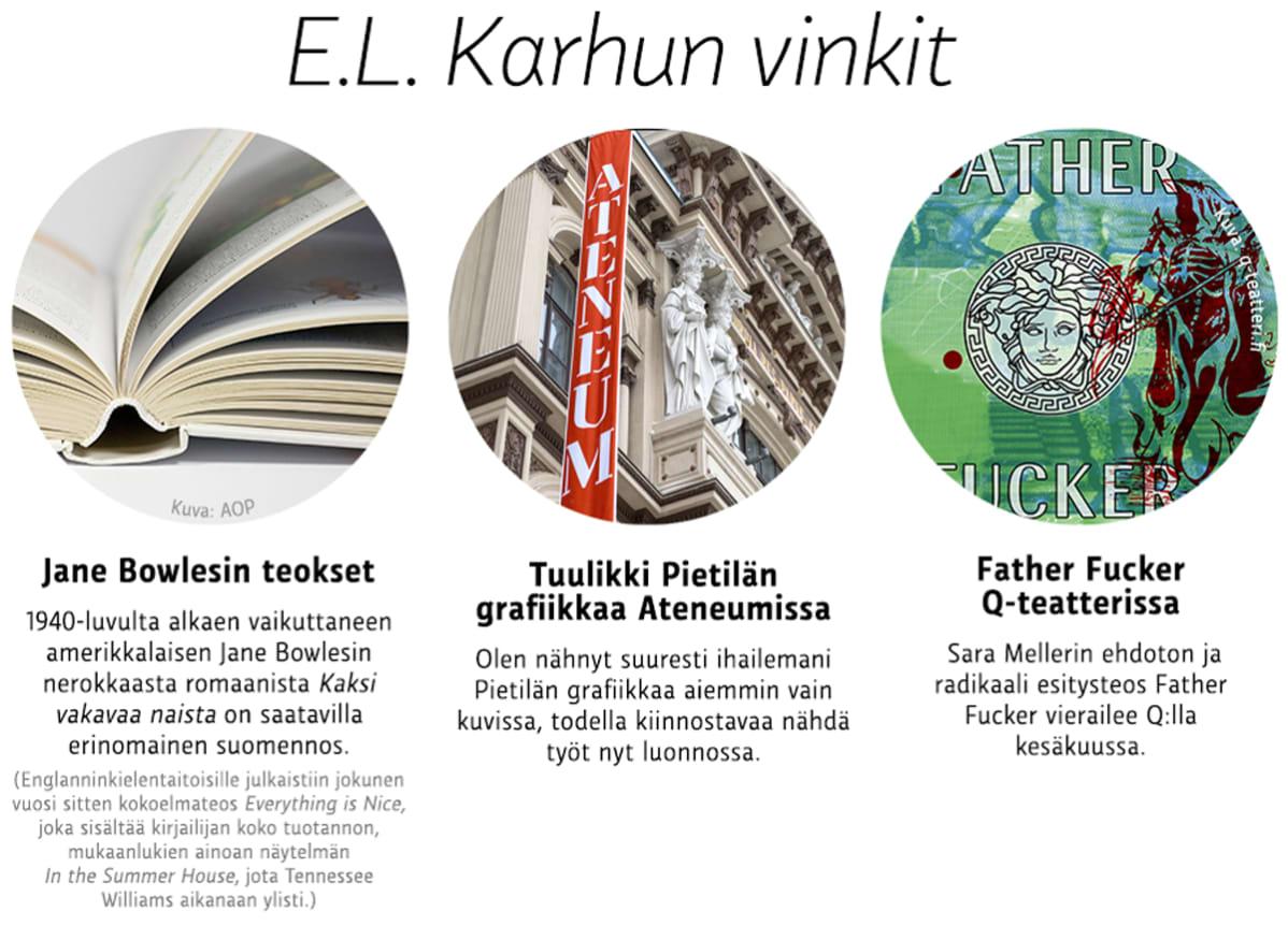 E.L. Karhun vinkit
